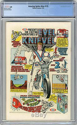 1974 Amazing Spider-Man 129 CGC 6.0 1st Punisher White Pages