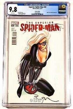 2013 Marvel Comics Superior Spider-man #20 Variant Cgc 9.8 White Campbell Cat