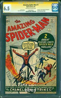 AMAZING SPIDER-MAN #1 6.5 UNRESTORED SIGNATURE SERIES SIGNED STAN LEE OWith WHITE