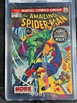 AMAZING SPIDER-MAN #120 CGC NM+ 9.6 White pg! Hulk vs. Spider-Man