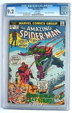 AMAZING SPIDER-MAN #122, Bronze Age, KEY! DEATH OF GREEN GOBLIN CGC 9.2 White pg