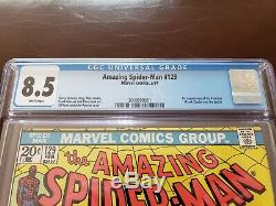 AMAZING SPIDER-MAN #129 CGC 8.5 WHITE PAGES 1st APP of THE PUNISHER NETFLIX 1974