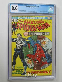 AMAZING SPIDER MAN # 129 US MARVEL 1974 1st Punisher CGC 8.0 VFN White