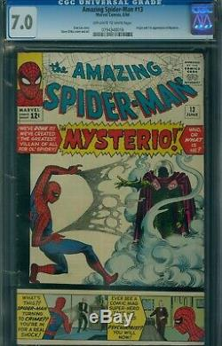 AMAZING SPIDER-MAN #13 CGC 7.0 OFFWHITE-WHITE PAGES 1st Mysterio