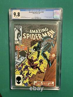 AMAZING SPIDER-MAN #265 CGC 9.8 FIRST APPEARANCE OF SILVER SABLE White Pages