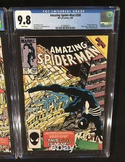 AMAZING SPIDER-MAN 268 + WEB Of SPIDER-MAN 6 CGC 9.8 White Pages JOHN BYRNE