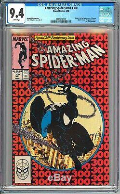 AMAZING SPIDER-MAN #300 CGC 9.4 WHITE PAGES NM First VENOM Eddie Brock