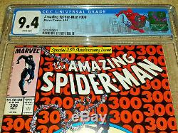 AMAZING SPIDER-MAN 300 CGC 9.4 WHITE PAGES VENOM 1st APPEARANCE CUSTOM NYC LABEL