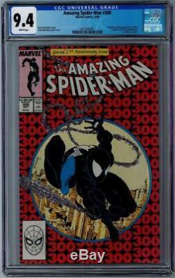 AMAZING SPIDER-MAN #300 CGC Graded 9.4 White Pages McFarlane First Venom