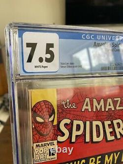 AMAZING SPIDER-MAN 31 CGC 7.5 WHITE PAGES- 1st GWEN STACY