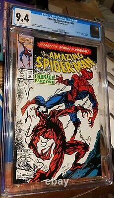 AMAZING SPIDER-MAN #361 1ST APPEARANCE OF CARNAGE CGC 9.4 white pages new case