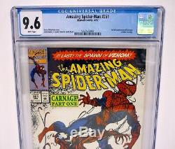 AMAZING SPIDER-MAN #361 1st Carnage Appearance Rare Newsstand CGC 9.6 WHITE 1992