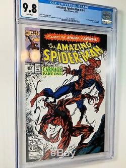 AMAZING SPIDER-MAN 361 CGC 9.8 White Pages 1ST app of Carnage New Slab! Perfect