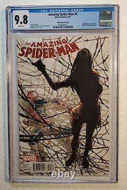 AMAZING SPIDER-MAN #4 CGC 9.8 White Pages 1st Silk Ramos Variant