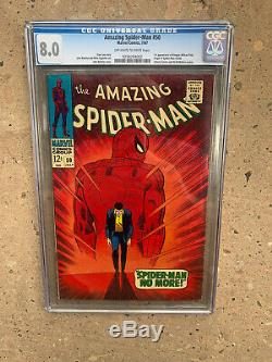 AMAZING SPIDER-MAN #50 CGC 8.0 OFF-WHITE TO WHITE PAGES VF 1st KINGPIN