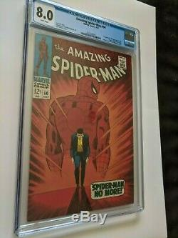 AMAZING SPIDER-MAN #50 CGC 8.0 WHITE PAGES 1st KINGPIN $. 99, NO RESERVE