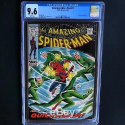 AMAZING SPIDER-MAN #71 (1969) CGC 9.6 White Pgs vs. QUICKSILVER Cover