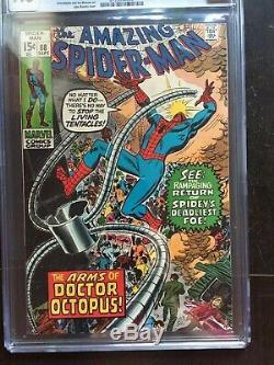 AMAZING SPIDER-MAN #88 CGC NM/MT 9.8 White pg! Doctor Octopus app