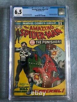 AMAZING SPIDERMAN #129 CGC 6.5 WHITE PAGES 1st Punisher Marvel comic free ship