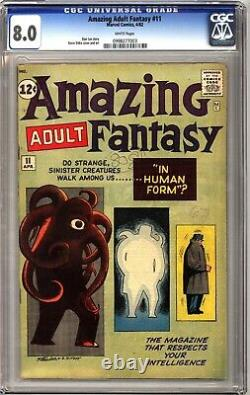 Amazing Adult Fantasy 11 CGC 8.0 White Pages! Lee and Ditko