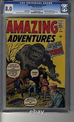 Amazing Adventures (1961) # 1 CGC 8.0 Cream/Off-White Lee Kirby Ditko & Ayers