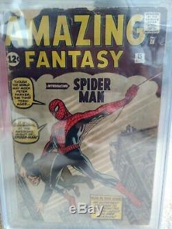Amazing Fantasy #15 CGC 2.0 1st App Spider-Man Off White Pages