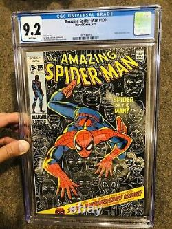 Amazing Spider-Man #100 CGC 9.2 1971 White Pages Classic Spidey Cover