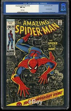 Amazing Spider-Man #100 CGC NM 9.4 White Pages Perfect Wrap Old Label