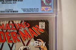 Amazing Spider-Man 101 CGC 5.0 OWithWhite Pages 1st app Morbius Graded Comic
