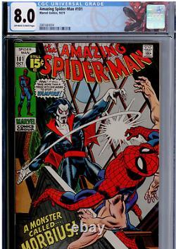Amazing Spider-Man #101 CGC 8.0 OWithWHITE 1st app. Of Mobius