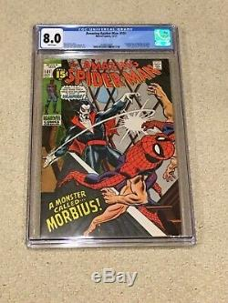 Amazing Spider-Man 101 CGC 8.0 with Rare White Pages (1st app of Morbius!)