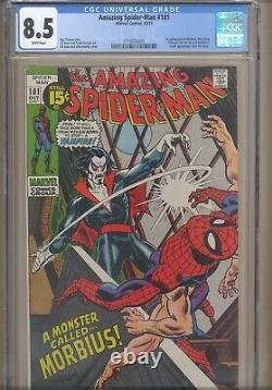 Amazing Spider-Man #101 CGC 8.5 White! 1st app. Of Morbius, the Living Vampire