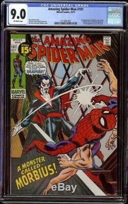 Amazing Spider-Man # 101 CGC 9.0 Off-White (Marvel 1971) 1st appearance Morbius