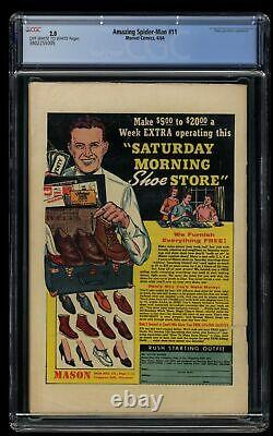 Amazing Spider-Man #11 CGC GD 2.0 Off White to White Doctor Octopus