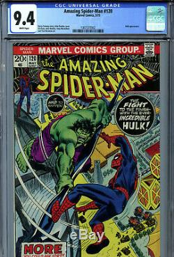 Amazing Spider-Man #120 (1973) Marvel CGC 9.4 White Pages Hulk Appearance