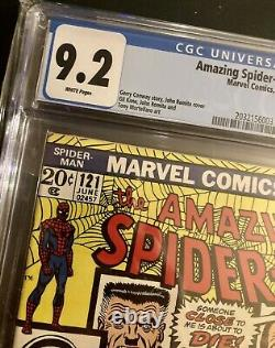 Amazing Spider-Man #121 CGC Universal 9.2 WHITE PAGES 1973 Marvel Bronze Age Key