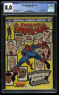 Amazing Spider-Man #121 CGC VF 8.0 White Pages Death of Gwen Stacy! Spiderman