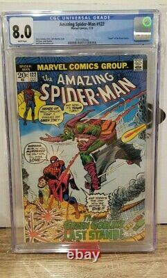 Amazing Spider-Man 122 CGC 8.0 White pages Marvel 1973