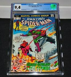 Amazing Spider-Man 122 CGC 9.4 White Pages 1973 Death Of Green Goblin