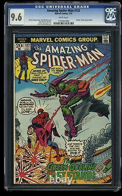 Amazing Spider-Man #122 CGC NM+ 9.6 White Pages Death of Green Goblin