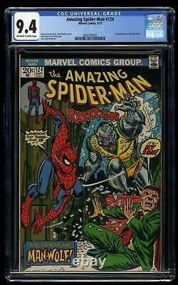 Amazing Spider-Man #124 CGC NM 9.4 Off White to White 1st Print 1st Man-Wolf