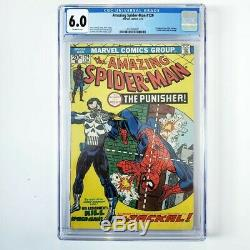 Amazing Spider-Man #129 CGC 6.0 FN Off-White Pages 1st Appearance Punisher 1974