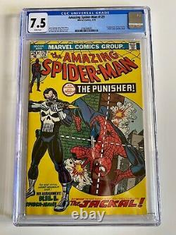 Amazing Spider-Man #129 CGC 7.5 White pages, 1st App Punisher. Looks better