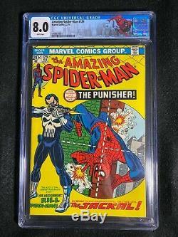 Amazing Spider-Man #129 CGC 8.0 (1974) 1st app Punisher WHITE pages