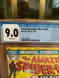 Amazing Spider-Man 129 CGC 9.0 WHITE pages