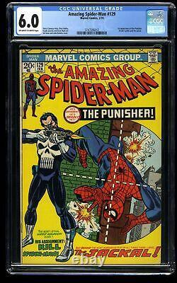 Amazing Spider-Man #129 CGC FN 6.0 Off White to White 1st Punisher