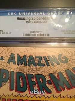 Amazing Spider-Man 13 CGC 4.0 OW To White Pgs. 1st Mysterio 3 Day No Reserve