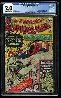 Amazing Spider-Man #14 CGC GD 2.0 Off White to White 1st Green Goblin