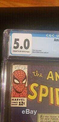 Amazing Spider-Man #15 1st app. Of Kraven The Hunter CGC 5.0 OW-White pages