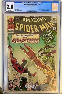 Amazing Spider-Man #17 CGC 2 White Pages